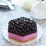 Healthy no bake lemonblack currant cake with arcticberries powder hellip