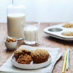 Healthy carrot muffins with walnut topping  !  hellip